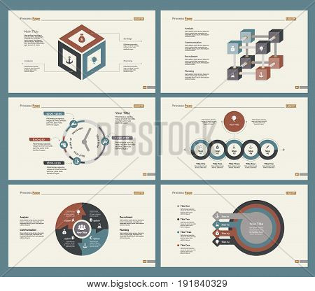 Infographic design set can be used for workflow layout, diagram, annual report, presentation, web design. Business and statistics concept with process and timing charts.