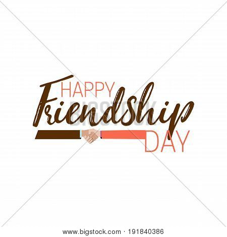 Happy Friendship day. Usable as greeting cards, posters. Badges for your design