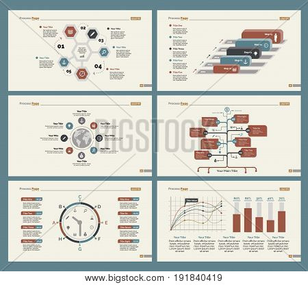 Infographic design set can be used for workflow layout, diagram, annual report, presentation, web design. Business and management concept with process, percentage, timing, line, flow and bar charts.