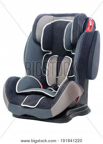 Safety car seat for children isolated on white background