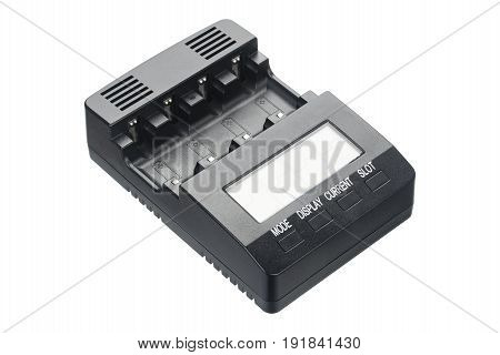 Intellectual battery charger isolated on a white background. Automatic smart charger.