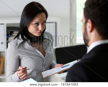 Beautiful Woman Portrait At Workplace