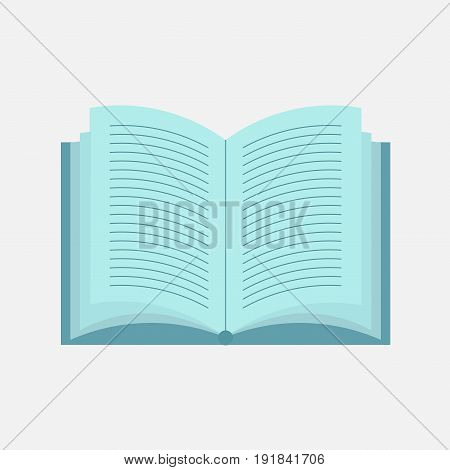 icon open book flat design reading book learning reading image