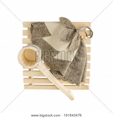 Sauna Accessories On White