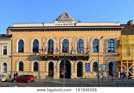 CLUJ NAPOCA ROMANIA - 04.01.2017: old city hall and local council landmark architecture