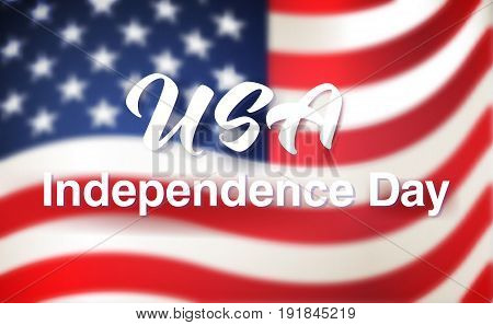 4th of July card. Greeting banner to USA Independence Day.