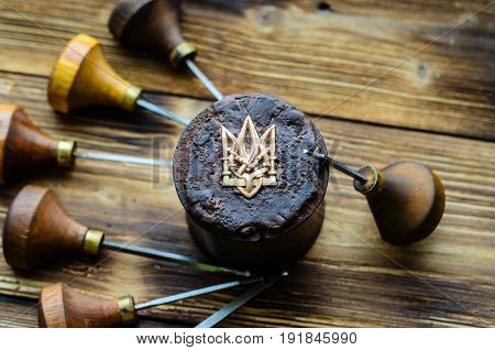 Gravers And Trident On A Jeweller Workplace
