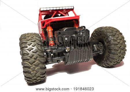 Buggy on the radio control on large wheels