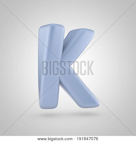 Serenity Color Letter K Uppercase Isolated On White Background