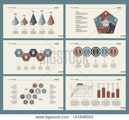 Infographic design set can be used for workflow layout, diagram, annual report, presentation, web design. Business and accounting concept with process, line, timing, bar and percentage charts.