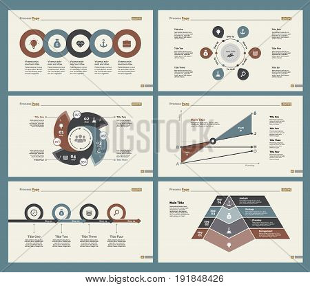 Infographic design set can be used for workflow layout, diagram, annual report, presentation, web design. Business and analytics concept with process, line and percentage charts.