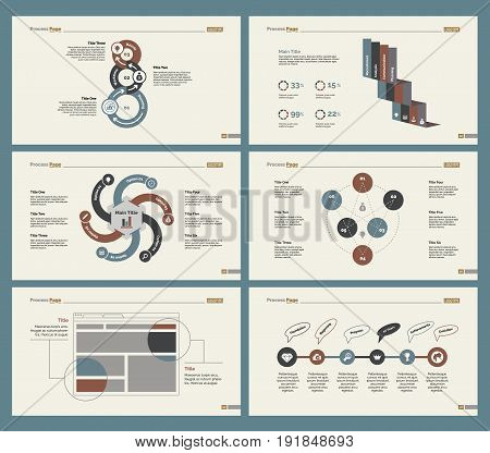Infographic design set can be used for workflow layout, diagram, annual report, presentation, web design. Business and economics concept with process and percentage charts.