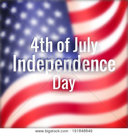 Greeting Banner To Usa Happy Independence Day.