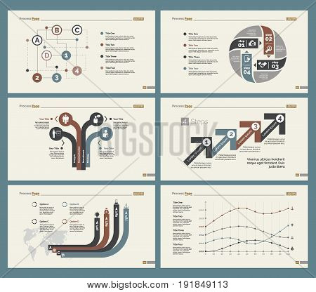 Infographic design set can be used for workflow layout, diagram, annual report, presentation, web design. Business and finance concept with process, line and percentage charts.