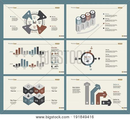 Infographic design set can be used for workflow layout, diagram, annual report, presentation, web design. Business and statistics concept with process and percentage charts.