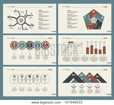 Infographic design set can be used for workflow layout, diagram, annual report, presentation, web design. Business and statistics concept with process, percentage, line and bar charts.