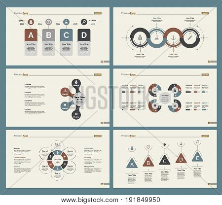 Infographic design set can be used for workflow layout, diagram, annual report, presentation, web design. Business and production concept with process, timing charts and mind map.