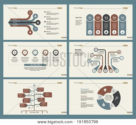 Infographic design set can be used for workflow layout, diagram, annual report, presentation, web design. Business and concept with process and flow charts.