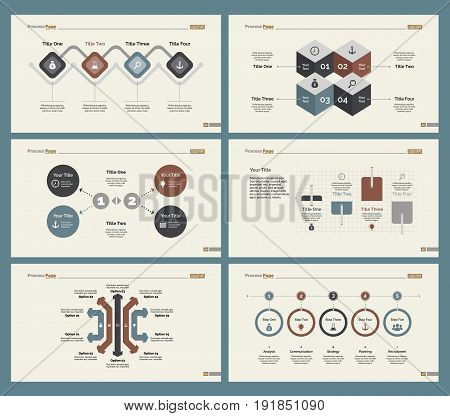 Infographic design set can be used for workflow layout, diagram, annual report, presentation, web design. Business and training concept with process charts.