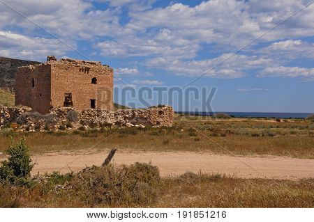 Tower Of ,los Alumbres, Gabo De Gata-nijar, Natural Park Almeria Province, Spain