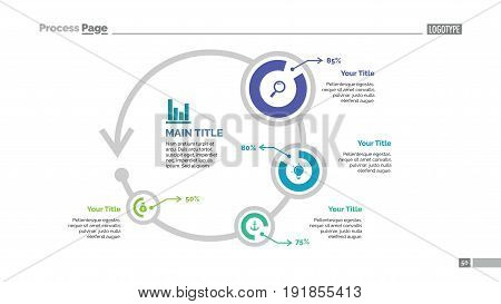 Four circles percentage chart. Business data. Comparison, diagram, design. Concept for infographic, templates, presentation, report. Can be used for topics like analysis, statistics, research.