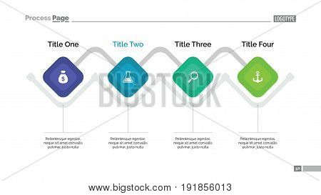 Process chart slide template. Business data. Graph, diagram, design. Creative concept for infographic, templates, presentation, marketing. Can be used for topics like management, strategy, finance.