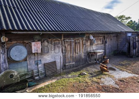 Farm in Kupovate settlement of so called Samosely - residents of Chernobyl Exclusion Zone Ukraine