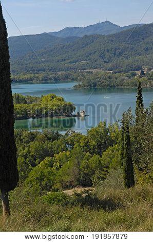 Banyoles Lake Fron Puig De Sant Martiria