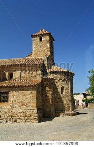 Church Of Sant Pere, Ullastret, Girona Province Girona, Catalonia ,spain