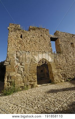 Castle Of Mirambel In Maestrago, Castellon Province, Valencian Comunity, Spain