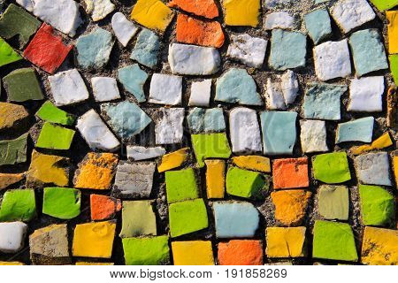 Mosaic abstract background. Colorful ceramic tile pattern