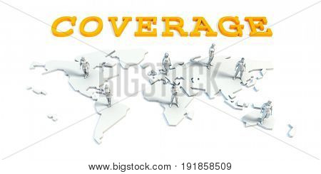 Coverage Concept with a Global Business Team 3D Illustration Render