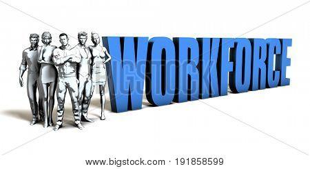 Workforce Business Concept as a Presentation Background 3D Illustration Render