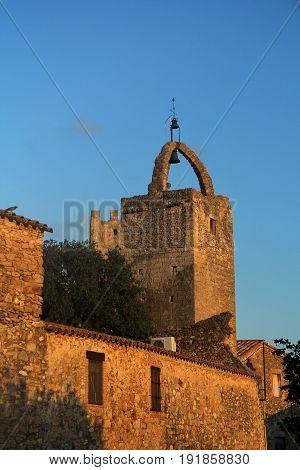 Torre De Les Hores, Peratallada, Baix Emportada, Costa Brava,girona Province, Catalonia, Spain