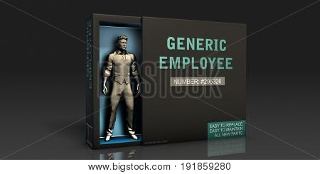 Generic Employee Employment Problem and Workplace Issues 3D Illustration Render
