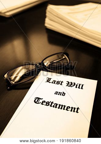 Last Will and Testament on Desk for Estate Planning from Lawyer