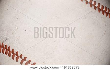 Textured baseball backdrop. 3D Rendering, closae up.