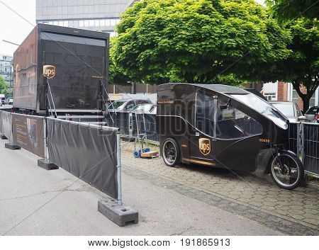 Ups Sustainable Delivery In Hamburg