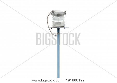 Outdoor spotlight light on a white background isolation
