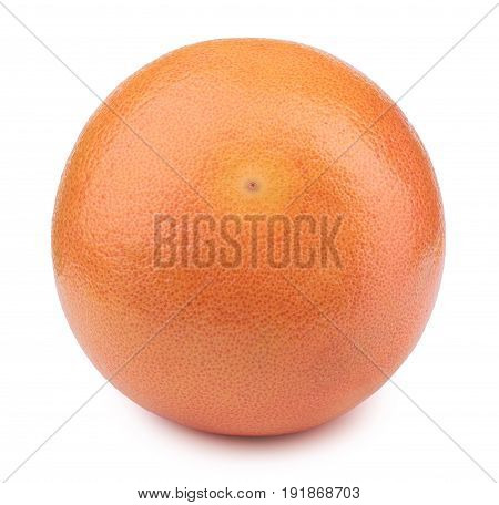 Perfectly retouched whole grapefruit isolated on the white background with clipping path