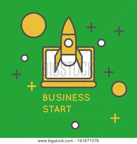 Startup brochure cover design. Start up creative business background.
