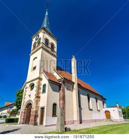 Saints Peter and Paul Church in Plobsheim - Bas-Rhin, France