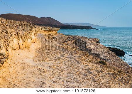Caves Near Ajuy Village On Fuerteventura, Canary Island, Spain