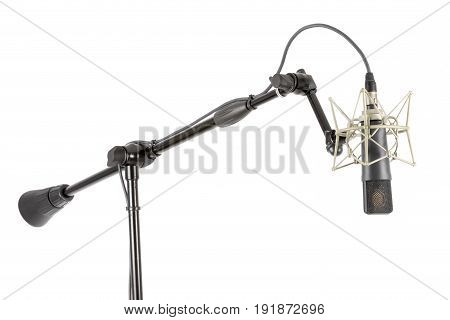 Professional Microphone On A Stand