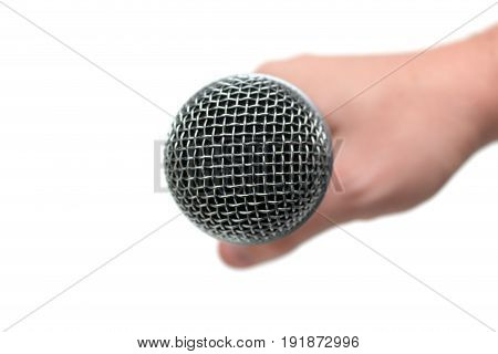 Microphone Close Up In Hand, Mic