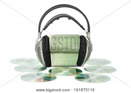 Various Cd / Dvd With Headphones