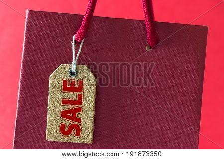 Sale Tag On Shopping Bag
