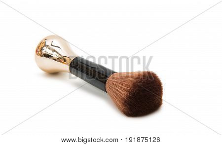 Makeup brush cosmetic equipment isolated on white background
