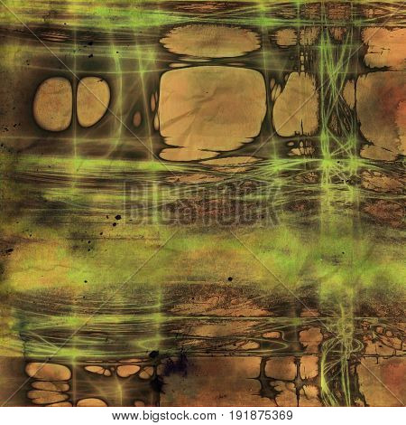 Abstract retro background or old-fashioned texture. With different color patterns: yellow (beige); brown; gray; green