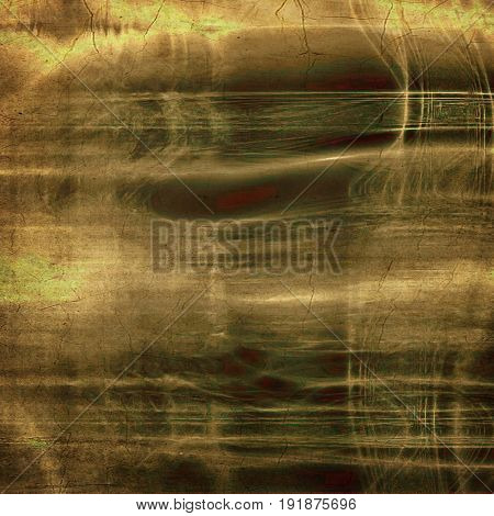 Art grunge background or vintage style texture with retro graphic elements and different color patterns: yellow (beige); green; brown; gray